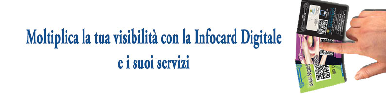Promuove le aziende sul territorio con Infocard digitale con QR Code